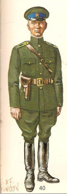 1943-1945 Soviet Red Army cavalry cadets' summer service dress uniform.