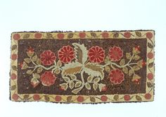 "Maker Unknown. Shirred Rug. American, New England, ca. 1840-1860. 64"" x 31""."