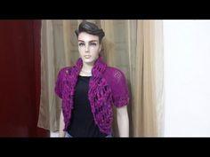 Casaco de tricô - 2 retângulos   - YouTube
