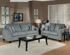 Modern Fabric Couch And Loveseat Set: Great Living Room Collection .