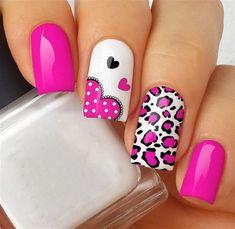 Fabulous Nails, Perfect Nails, Gorgeous Nails, Pink Nail Art, Pink Nails, Gel Nails, Nagellack Design, Valentine Nail Art, Manicure E Pedicure