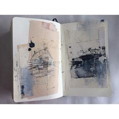 Art Sketchbook with mixed media pages; creative journal; art portfolio // Jane Cornwell