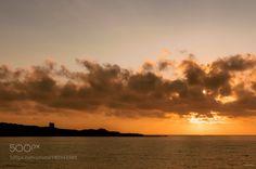 Sonnenuntergang by memba  Sonnenuntergang Sunset Italien Meer Wolken Sardinien memba