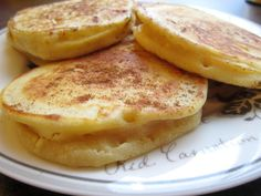 Apple Pancake Rings With Apples, All-purpose Flour, Milk, Sugar, Vanilla Extract, Baking Powder, Eggs, Butter, Cinnamon