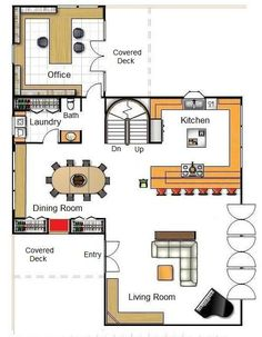 Downstairs Floor Plan for a Shipping Container Home