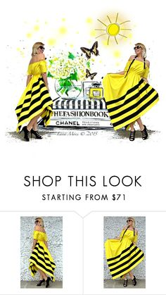 """""""Bumble bee"""" by beanpod ❤ liked on Polyvore"""
