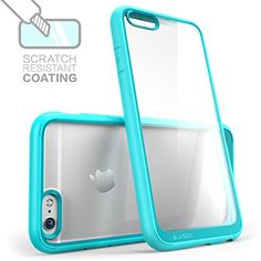 iPhone 6 Case, i-Blason [Scratch Resistant] Apple iPhone 6 Case 4.7 inch Halo Series Hybrid Clear Case / Cover with TPU Bumper for iPhone 6 (Clear/Blue) i-Blason http://www.amazon.com/dp/B00M0RXH1A/ref=cm_sw_r_pi_dp_9Qvpub162ZQ3Q