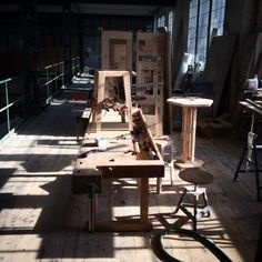 Factory life is going to end soon... Berlin had so many sunny days during this winter that it was not even too hard to stay... #factory #timeless #nomadiclife #workday #workshop #workinprogress #behindthescenes #wood #woodwork #atmosphere #woodworking #stool #table #design #artistic #instacool #wanderlust #wanderer #wonderland #instamood #furniture #contemporaryfurniture #interiors #berlin #bohemian #unique #luxury in #art #spaces #dreamland de hillsideout