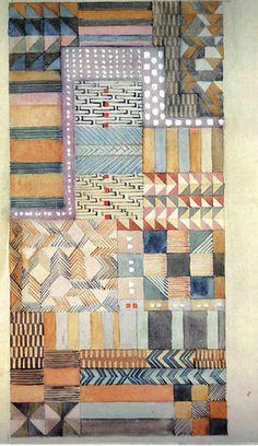 Design for a fabric in Jacquard technique 1927 18.5x37.5 cm Cooper-Hewitt, National Design Museum, New York -- Gunta Stolzl