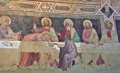 Cenacolo di Santa Croce - Firenze - Taddeo Gaddi - 1334-1366 - affresco - Ultima Cena dettaglio