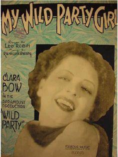 """Clara Bow """"Wild Party"""""""