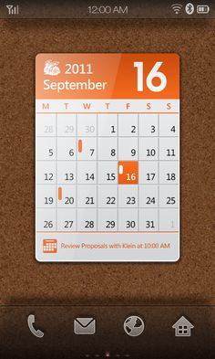 Android Phone Widget Design by Glen Gao, via Behance