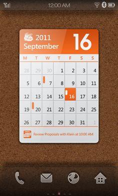 Android Phone Widget Design by Glen Gao, via Behance