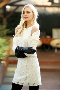 #valery #FW #white #lovewhite #lace #flower #chic #blond #model #luxury #glamouros #madeinitaly