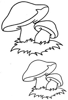 mushroom craft for preschoolers Colouring Pages, Coloring Pages For Kids, Coloring Sheets, Coloring Books, Mushroom Drawing, Mushroom Art, Rock Crafts, Fall Crafts, Manualidades Halloween