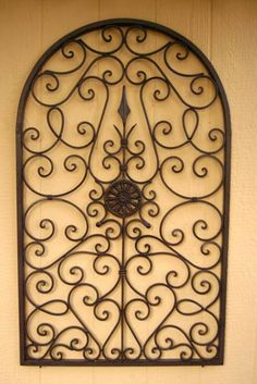 Captivating This Wrought Iron Wall Décor Would Make A Nice Design And Décor Statementu2026