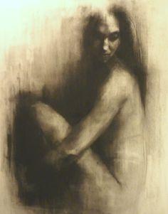 "Saatchi Online Artist: Patrick Palmer; Charcoal, 2010, Drawing ""Hush 3"""