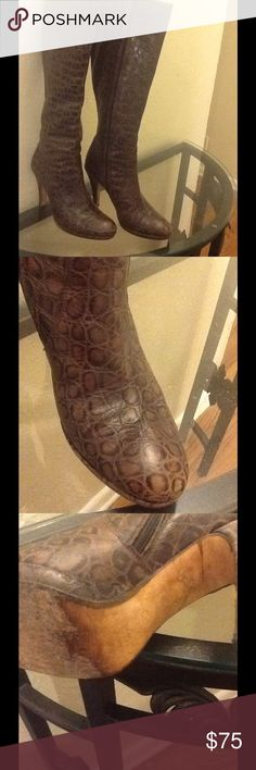 Charles David boots made in Italy Charles David boots beautiful leather great condition Charles David Shoes Heeled Boots