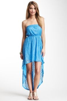 Strapless Hi-Lo Lace Dress on HauteLook