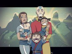 Not the Last Airbender: Aang and Katara's Family by FieryStampede