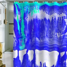 Amy Sia Dip Dye Ultramarine Shower Curtain