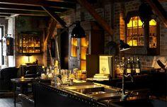 Whiskey room, fireplace & great vinyl records. Lidkoeb, Copenhagen.