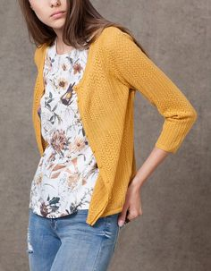 At Stradivarius you'll find 1 Openwork cardigan for woman for just 15.95 € . Visit now to discover this and more KNITWEAR.