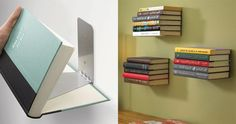 Make Magic With This DIY Floating Bookshelf... What an awesome and easy DIY idea everyone will love. Try it now, it costs almost noth