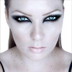 Underworld-inspired. Gothic fallen angel makeup