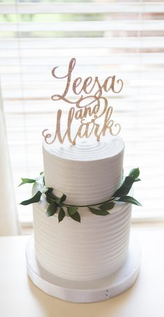 Wedding Cake Toppers that Wow! Impress with a personalized glitter cake topper for your wedding cake. // Artisan Wedding Decor, Gifts & Accessories by www.ZCreateDesign.com or Shop ZCreateDesign on Etsy by Clicking Pin