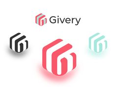 Givery - Logo idenity color typography brand design clean brand icon perspective flat web product present gift badges design android mobile ios logo app Layout Inspiration, Logo Design Inspiration, Icon Design, Design Android, Property Logo, Gift Logo, Logo Samples, Brand Icon, Coffee Logo