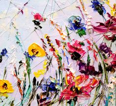 Flor abstracta pintura pintura al óleo personalizado flores
