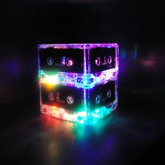 This rock n roll night light centerpiece made from repurposed cassette tapes is sure to set the mood at your party or just every day in your home. Description from catchmyparty.com. I searched for this on bing.com/images