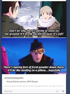 WAITWAITWAIT DIDNT RUSSIA SAY HIS ONLY FRIEND GROWING UP WAS A YAK??? -----so russia is basically kristoff...?