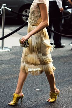Olivia Palermo's 1920s-Inspired look but still twisted a bit #TribalGlam at the 2013 CFDA Fashion Awards