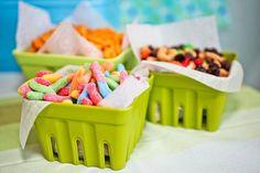 camping themed party treats