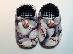 Baseball Baby Boy Shoes by ShoesbySusie on Etsy, $22.00