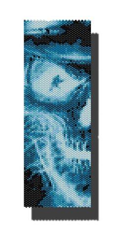 Ghostly Skull PEYOTE Pattern Beaded by DragonsLairPatterns on Etsy, £3.95