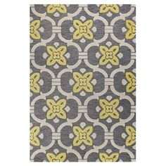 Add a pop of pattern to your living room or den with this hand-tufted wool rug, showcasing a floral-inspired motif in grey.  Product...
