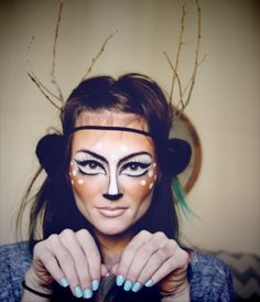 Deer Makeup! (Couples costume idea - a hunter and a deer.) I love this!