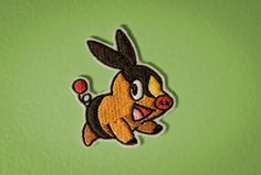 Tepig  Embroidered Ironon Pokemon Patch by OKsmalls on Etsy, $8.00