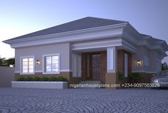 Architectural Designs For 4 Bedroom Bungalow In Nigeria : Best Bedroom Bungalow House Designs Floor Plan Design Plans Philippines Architectural Designs For 4 Bedroom Bungalow In Nigeria Pic. architectural designs for 4 bedroom bungalow in nigeria Modern Bungalow House Plans, Bungalow Haus Design, Bungalow Floor Plans, Duplex House Plans, My House Plans, House Floor Plans, House Design Pictures, Modern House Design, Modern Houses