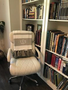 A more comfortable chair is always a bonus, especially when you will spend hours every day in one place. Supply Room, Organizing, Organization, Mudroom, Storage Spaces, Design Projects, Accent Chairs, Armchair, Furniture