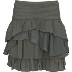 ruffle army skirt ($46) ❤ liked on Polyvore featuring skirts, bottoms, women, flouncy skirt, army skirt, frill skirt, ruffle skirt and flounce skirt