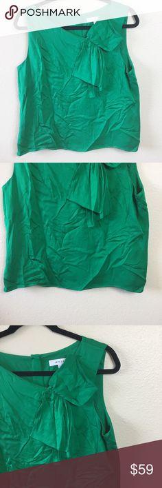 4c700baefcf2e Milly Green Silk Sleeveless Blouse Size 10 Milly emerald green blouse. Size  10. In