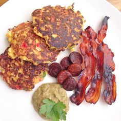 #summer #Sundaybrunch #glutenfree sweetcorn fritters made using fresh corn @coolchileco chipotle & @twochicksproducts whole egg. Served with crispy maple cured bacon @foodsunearthed chorizo & guacamole. #breakfast #nutrition #dairyfree #protein #healthyeating healthyeatinglifestyle #paleo #fitfam #foodporn #healthyfoodporn #paleoliving #glutenfreefood #gourmet #londonfoodies #chef #weightlossjourney #instafoodie #seasonal #yummyfood #foodbloggers #hbloggers