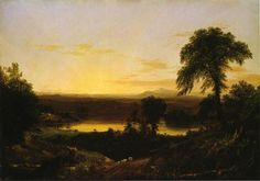 """Summer Twilight. Un souvenir d une scène en Nouvelle-Angleterre"", 1834 de Thomas Cole (1801-1848, United Kingdom)"