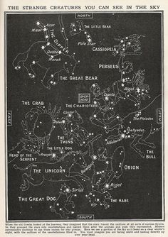 When the old Greeks looked at the heavens, they imagined that the stars traced the outlines of all sorts of curious figures. So they grouped the stars into constellations and named them after the animals and gods they represented.