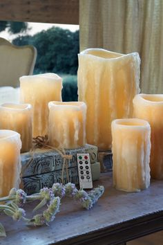 Fabulous Flameless Candle & Remote - Remote Flameless Candles, Electric Wax Candles, Safe Candles | Soft Surroundings