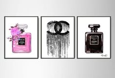 3x-Coco-Chanel-Print-Chanel-Perfume-print-Chanel-wall-decor-Chanel-poster
